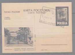 POLAND - 1947 - OSWIECIM / AUSHWITZ STATIONERY 6ZLOTY CARD WITH MUSEUM POSTMARK - Covers & Documents