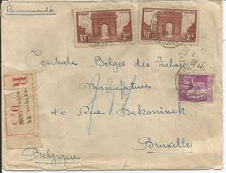 1929-31 - N° 258 (x2) + 281 - Oblitérés (o) Sur Lettre RECOMMANDEE - VERSAILLES - Covers & Documents