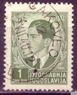 KING PETER II-1 D-POSTMARK ČAKOVEC - CROATIA - YUGOSLAVIA - 1939 - Gebraucht
