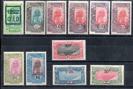 Côte Française Des Somalis Franz. Somaliküste Y&T 101*, 105*, 108* - 110*, 111**, 112*, 114*, 116*, 117*, 121* - Französich-Somaliküste (1894-1967)