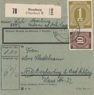 BiZone Paketkarte 1947: Moosburg Nach Beyharting, Seltenes Formular - Zone AAS
