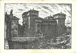 Mantova (Lombardia) Il Castello, Silografia (Xilografia) Di Dino Villani, Le Chateau, The Castle, Der Schloss - Mantova