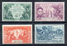 Côte Française Des Somalis Franz. Somaliküste Y&T 137* - 140* - Französich-Somaliküste (1894-1967)