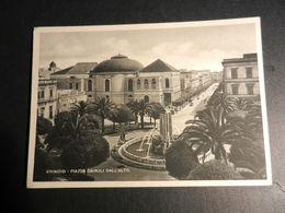 19848) BRINDISI PIAZZA CAIROLI DALL'ALTO VIAGGIATA 1941 - Brindisi