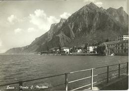 """Lecco (Lombardia) Scorcio Panoramico E Monte San Martino, St. Martino Mountain, Affrancatura """"Verificato Per Censura 22"""" - Lecco"""