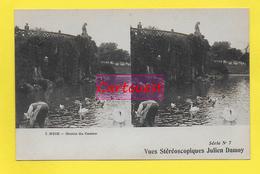 CPA NICE 06  ֎  Square Albert 1er Vue Sur Le Lac ֎ CARTE STEREOSCOPIQUE - Stereoscope Cards