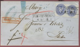 FÜRSTENBERG Bfh M. 2 X 2 Sgr (Paar) N. Stettin-Recomandiert - Deutschland