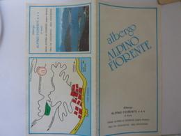 """Pieghevole Illustrato """"ALBERGO ALPINO FIORENTE Alpino Gignese  ( Sopra Stresa )"""" - Tourism Brochures"""