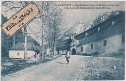 38 Grande Chartreuse - Cpa / L'Arrivée Au Couvent Et Les Sommets Du Grand Som. - Ohne Zuordnung