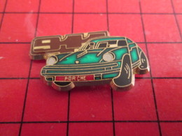 412b Pin's Pins /  Belle Qualité Et Rare / THEME AUTOMOBILE : PORSCHE 911 VERT METALLISE - Porsche