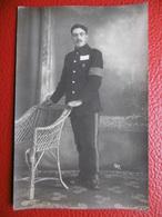 WW1 MICHAEL SMYTH BELFAST IRELAND PRISONNIER STALAG CACHET CARTE PHOTO - Régiments