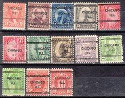 USA Precancel Vorausentwertung Preo, Locals Illinois, Chicago 243, 13 Diff. Perf. 11x10 1/2 - Vereinigte Staaten