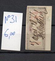 DT248J FRANCE 1 TIMBRE OBL FISCAL FISCAUX REVENUE REVENUES EFFETS COMMERCE N°31 BORD DE FEUILLE - Revenue Stamps