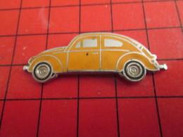 412b Pin's Pins /  Belle Qualité Et Rare / THEME AUTOMOBILE : VVW VOLKSWAGEN COCCINELLE ORANGE - Volkswagen