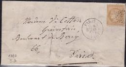 France, Paris - étoile Pleine Avec Càd 1380 Sur LAC De 1872 - Marcophilie (Lettres)