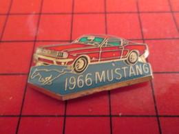 415a Pin's Pins /  Belle Qualité Et Rare / THEME AUTOMOBILE : FORD MUSTANG ROUGE De 1966 - Ford
