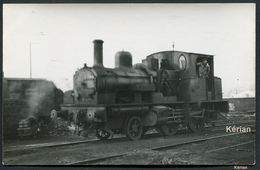 Photo - Machine 120T (Fbq. Cokerill Seraing) N°42 Du Réseau Nord-Est à St-Quentin - Décembre 1949 - Voir 2 Scans - Eisenbahnen