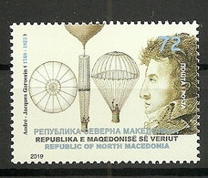 MACEDONIA 2019,The 250th Anniversary Of The Birth Of Andre Jaques Garnerin,,MNH - Macédoine