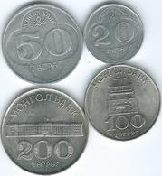 Mongolia - 1994 - 10, 20, 100 & 200 Tögrög (KMs 122-125) - Mongolia