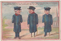 Chromo / CAVES TROYENNES VIN DE BOURGOGNE / ABSINTHE / EAU-DE-VIE DE MARC (Soldats Estropiés) - Autres