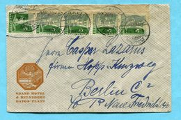 Zensurbrief Von Davos Nach Berlin 1916 - Absender: Grand Hotel & Belvedere - Lettres & Documents