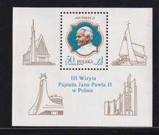 Poland 1987, S/s Pope, Miblock 103 MNH - Blocks & Sheetlets & Panes