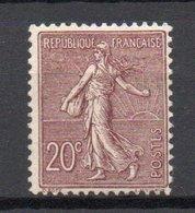 - FRANCE N° 131 Neuf ** - 20 C. Brun-lilas Type Semeuse Lignée 1903 - Cote 190 EUR - - 1903-60 Sower - Ligned
