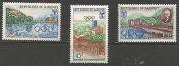 Dahomey - 1967 Grenoble Olympics MLH *   SG 303-5  Sc 241-3 - Benin - Dahomey (1960-...)