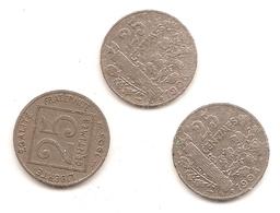 3 Pieces De 25 Centimes 1903/04/05 - France