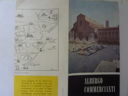 """Pieghevole  Illustrato """"ALBERGO COMMERCIANTI Bologna"""" 1963 - Dépliants Turistici"""