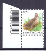 BELGIE * Buzin * Nr 3898  Barcode * Postfris Xx * FLUOR  PAPIER - 1985-.. Birds (Buzin)