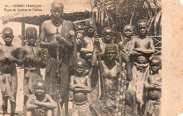 CPA, Congo Français, Types De Batékés De L'Alima, Animée - Französisch-Kongo - Sonstige