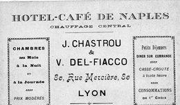 """"""" Carte De Visite""""-  Hôtel- Café De Naples- LYON-- - Cartes De Visite"""