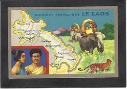 CPA Laos Asie Non Circulé Indochine Publicité Lion Noir éléphant - Laos