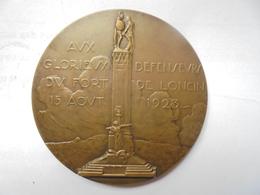 LIEGE-1923-AUX DEFENSEURS DU FORT DE LONCIN EN 1914-par GEORGES PETIT 76 Grammes-60 Mm - Professionnels / De Société