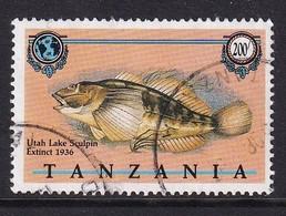 Tanzania 1990, Fish, Minr 641, Vfu. Cv 4,20 Euro - Tanzania (1964-...)