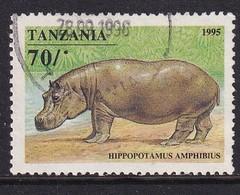 Tanzania 1995, Hippo, Minr 2025, Really Used - Tanzania (1964-...)