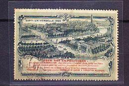 FRANCE TIMBRE VIGNETTE EXPOSITION UNIVERSELLE PARIS 1900 ........RARE............NON RÉPERTORIEE....... - Tourisme (Vignettes)