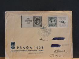 79/688A  LETTRE CESKOSL.  POUR LA BELG.  1938 - Tchécoslovaquie