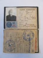France - Guerre 39-45 - Carte D'identité Datée 1940 + Feuillet Daté Du 2 Mars 1944 - Timbres Fiscaux D.A 1 Et 12 Francs - Documents Historiques