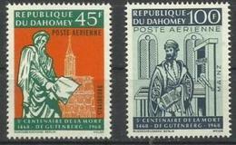 Dahomey - 1968 Johann Gutenberg MLH *   SG 325-6  Sc C69-70 - Benin - Dahomey (1960-...)