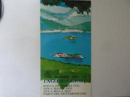 """Pieghevole  Illustrato  """"VISITATE IL LAGO MAGGIORE"""" - Dépliants Turistici"""