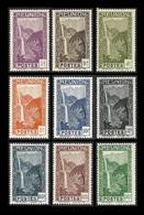 REUNION   1933-38  -  Y&T  125 à 133  - La Série Complète Cascade  -  NEUFS** Sauf 125 Nsg - Réunion (1852-1975)