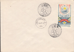 78400- SOCIALIST REPUBLIC ANNIVERSARY, STAMP AND SPECIAL POSTMARKS ON COVER, 1975, ROMANIA - 1948-.... Républiques