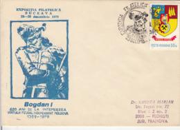 78405- BOGDAN 1ST, PRINCE OF MOLDAVIA, SPECIAL COVER, 1979, ROMANIA - 1948-.... Républiques