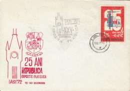 78408-ROMANIAN REPUBLIC ANNIVERSARY, IASI PHILATELIC EXHIBITION, SPECIAL COVER, 1973, ROMANIA - 1948-.... Républiques