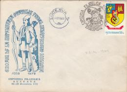 78409- BOGDAN 1ST, PRINCE OF MOLDAVIA, SPECIAL COVER, 1979, ROMANIA - 1948-.... Républiques