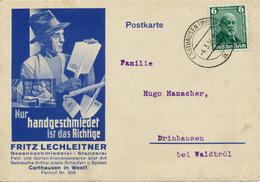 CARTHAUSEN - 1936 , Werbung Für Handgeschmiedete Spaten - Landwirtschaft