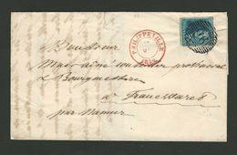 B/TB Lettre De Philippeville à Franc Waret Par Namur Avec Nr 2 P96 - 1849 Hombreras