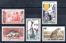 Côte Française Des Somalis Franz. Somaliküste Y&T 283**, 284**, 287** - 289** - Ungebraucht